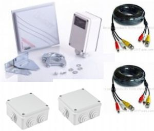 3000m 5.8 ghz digital wireless transmitter and receiver for cctv/farm cameras
